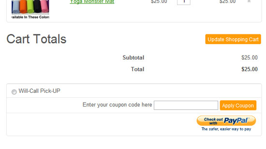 Shopping Cart Coupon Codes