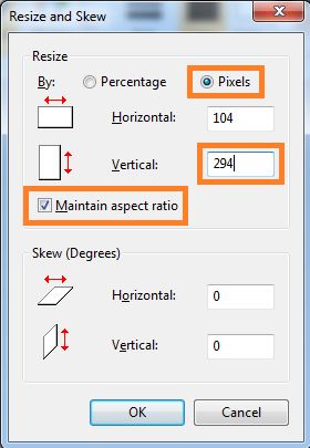 Image Resize Height
