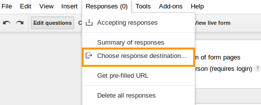 how to choose correst response in google forms