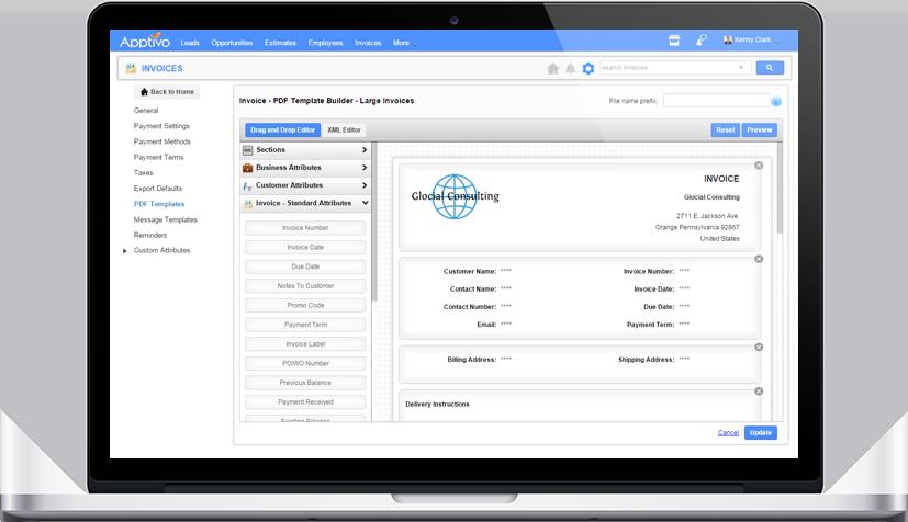 Custom Invoice PDF Templates