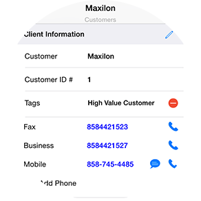 mobile CRM maxilon