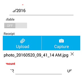 mobile expense reports receipt