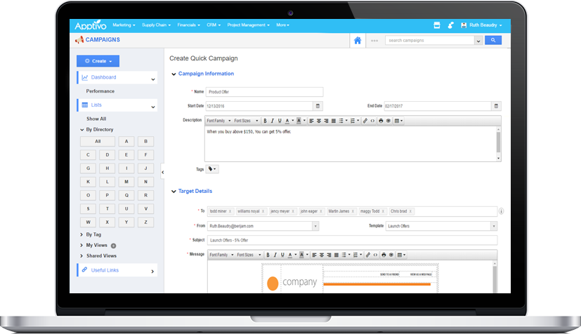 integrated crm app